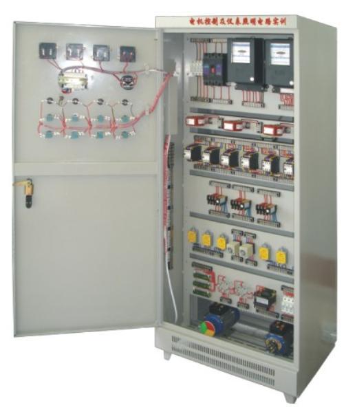 fcmz-1型电机控制及仪表照明电路实训考核装置(柜式,双面)