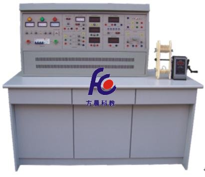 (2)控制屏面板上设有指针式交流电压表三只,用于监测三相输入