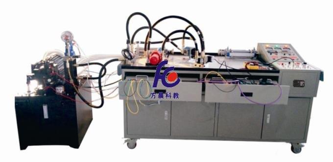 一、产品概述 装置由实训台、泵站、电液比例元件(带总线接口)、执行元件、测量仪器仪表以及测控软件等组成。适合各院校开展数字电液控制实训项目,同时也为相关专业课程设计、毕业设计提供了理想的实训平台 二、配置及技术性能 1.输入电源:三相五线~380V±10% 2.动力元件 (1)双比例变量柱塞泵 排量:15.